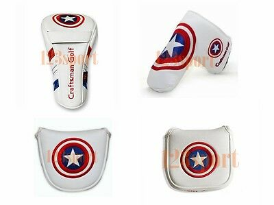White SHIELD Universal Golf Driver /Blade Putter / Mallet Putter Cover Headcover