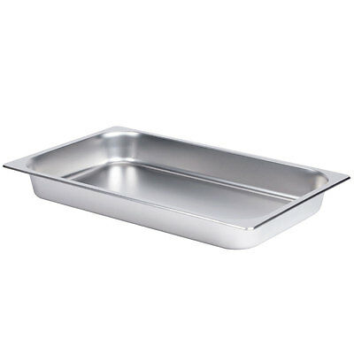 "Full Size 2 1/2"" Deep Stainless Steel Hotel Food Pan for 8 Qt. Chafing Dishes"