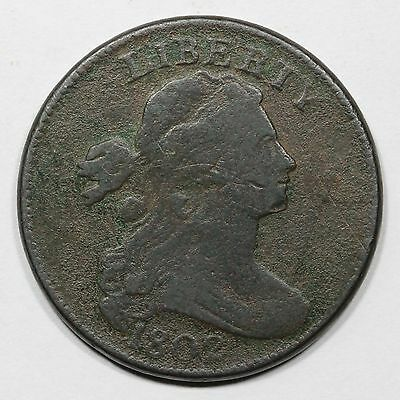 1802 S-240 R-3 Draped Bust Large Cent Coin 1c