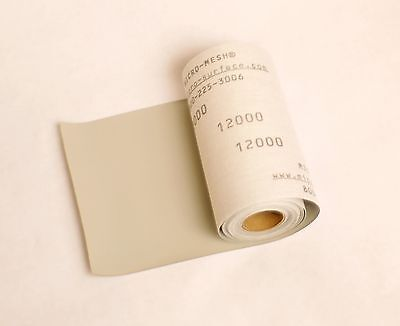 NEW!!Micro-Mesh Finishing ROLL 6'' x 3 ft. 12000 grit Extra Fine CLOTH SANDPAPER