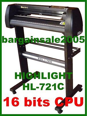 HIGHLIGHT HL-721C VINYL CUTTING PLOTTER CUTTER 4MB CORELDRAW Win 10 AU Standard