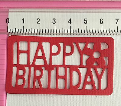 Die Cuts! 10 Pc 'Happy Birthday With Flower' Topper Birthday Party Celebration
