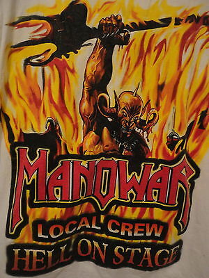 Manowar Authentic 1998 Vintage European T-Shirt   Rare  Two-Sided    Heavy Metal