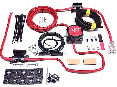 2mtr Twin Leisure Battery Split Charge Kit 12V 140a Durite VSR 110a Ready Made