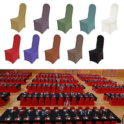 Spandex Chair Covers Flat Front Wedding Party Banquet Anniversary Universal Fit