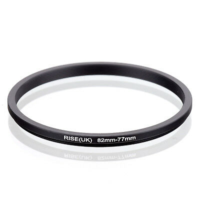 RISE(UK) 82mm-77mm 82-77 mm 82 to 77 Step down Ring Filter Adapter black