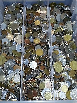 2 Pounds Of Foreign World Coins 2LBS + 1 Bonus Silver World Coin