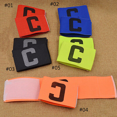 2PCS Soccer Captain's Armband Football Rugby Hockey Arm Band Symbol C Magic Tape