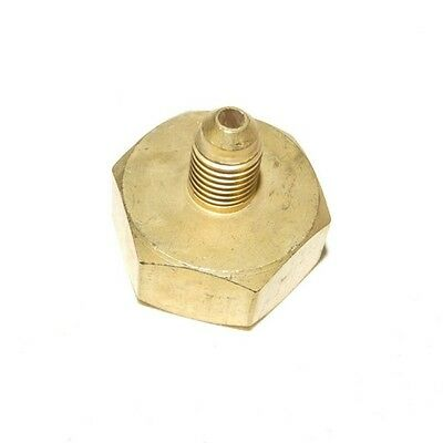 "R134A R410A 1/4"" / 5/16""  3/4"" Flare Brass Adapter Refrigerant Gas Tank Cylinder"