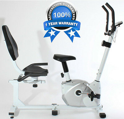 Magnetic Recumbent Exercise Bike Seated Cardio Fitness Workout Cycle Gym Machine