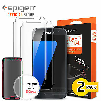 Galaxy S7 /S7 EDGE Screen Protector,Genuine SPIGEN HD Curved Crystal for Samsung