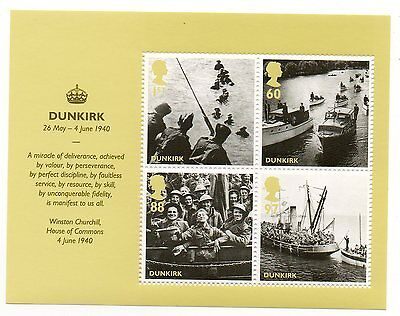 GB 2010 Dunkirk unmounted mint mini / miniature sheet MNH m/s stamps