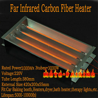 Spray/Baking Booth Infrared IR Paint Curing Heating Baked Light Oven lamp 3000W