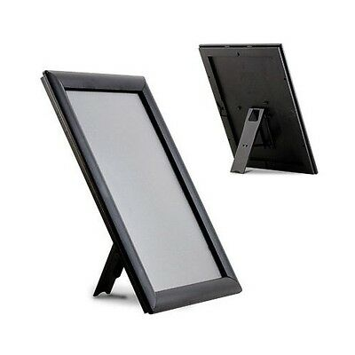 A6 A5 Snap frames with Table Stand Counter Top Photo Frame in Black Wood Silver