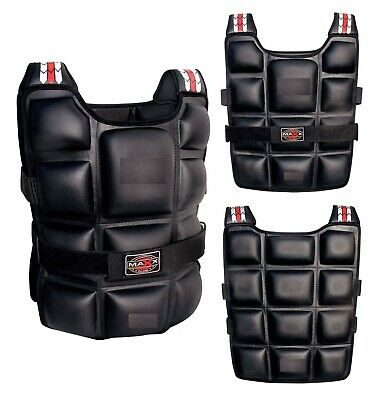 Maxx Weighted Jacket Contoured Training Vest 10kg 12kg 14kg 20kg Weighted Vests
