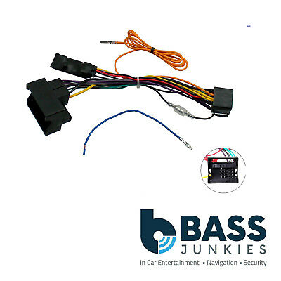 Audi A3 2003-2013 Car Stereo Quadlock Wiring Harness Igintion Generator Adapter
