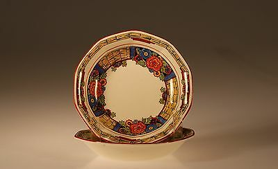 """Royal Winton Pair of Berry Bowls """"Rustic"""" pattern, England c. 1930"""