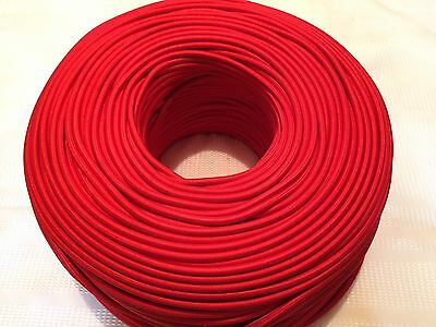 Red 2-Wire Rayon Cloth Covered Cord, 18ga,Vintage style Antique Lamps Lights