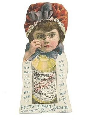 Hoyts German Cologne Book Mark Rubifoam Medicine Victorian Trade Card 1800's