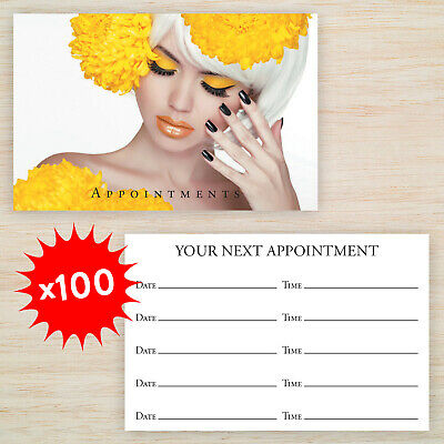 100 x  Appointment Cards Hair Beauty Nail Salon *Loyalty Cards also available*