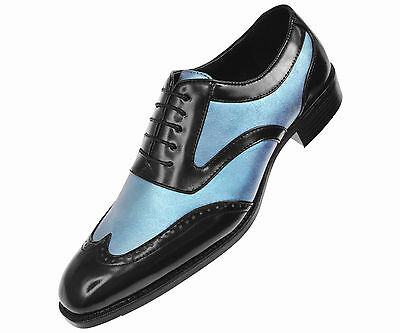 Bolano Mens Two-Tone Red /& White Smooth Dress Shoe w// Wing-Tip Elwyn-005