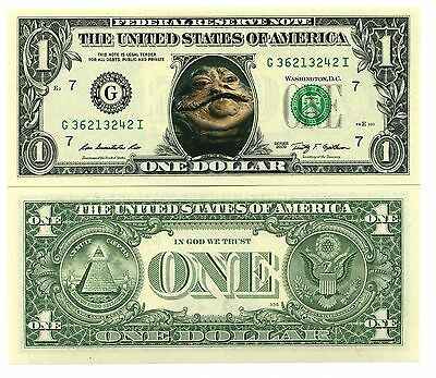 STAR WARS / JABBA LE HUTT VRAI BILLET DOLLAR US! Collection Alien Tatooine the c