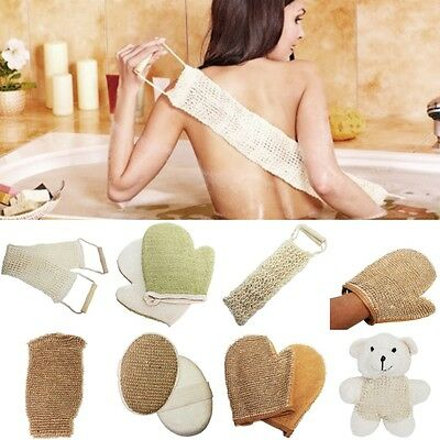 Exfoliating Gloves/Mitts/Sponges/Back Strap - Luxury Natural Loofah Jute Scrub