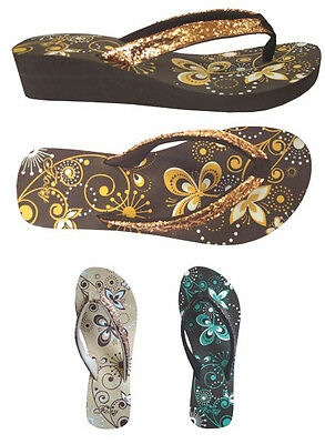 WHOLESALE LOT Women's Sandals Wedge Glitter Flip Flop Shoes 36 Pairs--(#5013)