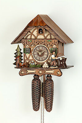 Original 8-Day Cuckoo clock,Kammerer,Black forest,Timber-frame house,