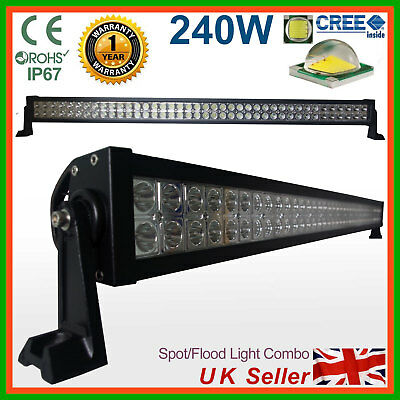 "240W 42"" CREE LED Light Bar Spot Flood Work Lamp 4x4WD SUV PICKUP Truck"
