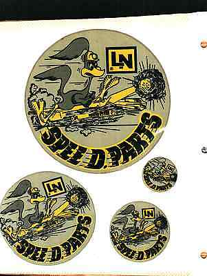 """Very Nice """"rare"""" Set Of 4 Old Lee Norse Speedy Parts Coal Mining Stickers # 332"""