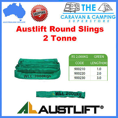 Austlift 2 TONNE Round Lifting Sling Various Lengths 100% Polyester