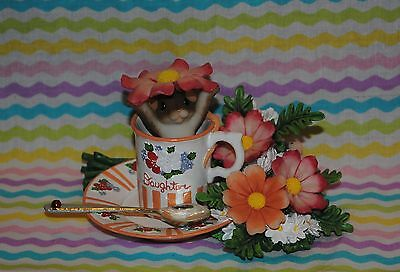 "Charming Tails ""daughter Your Goodness Warms My Heart"" Teacup Saucer Mouse"