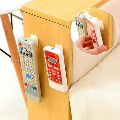 2Pcs ABS TV Remote Control Organizer Hook Control Seat Storage Stand Holder