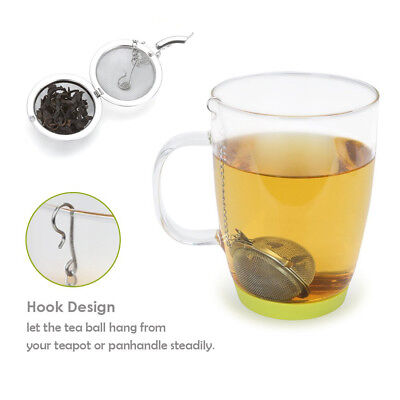 New Stainless Steel Spoon Filter Ball Infuser Tea Leaves Mesh Strainer Health