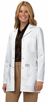 "Cherokee Women's Workwear 32"" Long Sleeve Snap Front Chest Pocket Lab Coat. 1369"