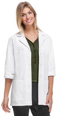"Cherokee Women's New Wokwear Two Patch Pockets 30"" 3/4 Sleeve Lab Coat. 1470A"