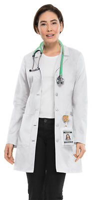 Cherokee Women's New Workwear Long Sleeve Button Front New Lab Coat. 4439