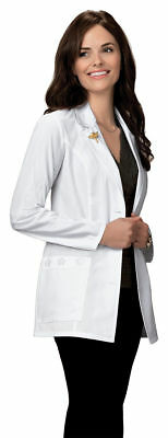 Scrubs Cherokee Notched Lapel Lab Coat 2390 White FREE SHIPPING!