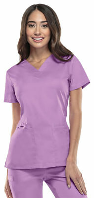 Cherokee Workwear Flex Women's V Neck Scrub Top 44700A Pick Size&Color