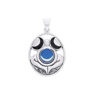 Wicca Triple Moon Goddess .925 Sterling Silver Pendant by Peter Stone