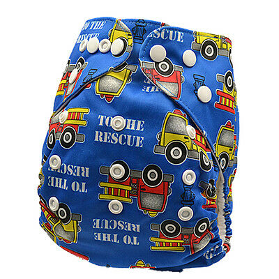 Modern Cloth Nappy Diaper Adjustable Washable Reusable + One Free Insert (D20)