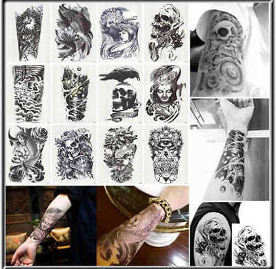 43 Patterns 3D Body Art Temporary Tattoo EXTRA LARGE Sheet 21×15cm