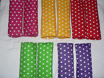 HANDMADE BABY CAPSULE / CAR /PRAM /HIGH CHAIR PADDED SEAT BELT COVERS DOTS 20 cm
