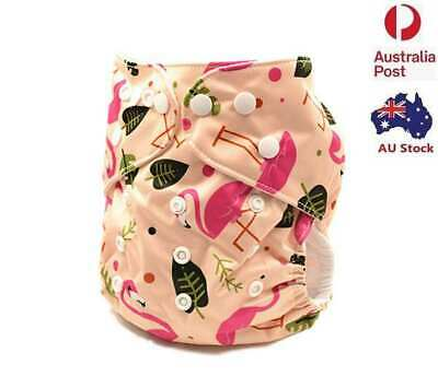 Printed Baby Cloth Nappy Reusable Nappies Diapers Covers Liner Insert