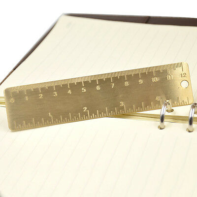 1 X Vintage Metal Copper Ruler Book Note Magazine Label Mark Bookmark Study New