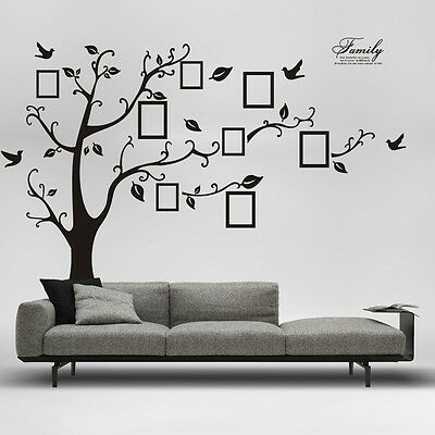 250*200cm Removable Wall Stickers Photo Frame Family Tree Decal Large FAST POST!