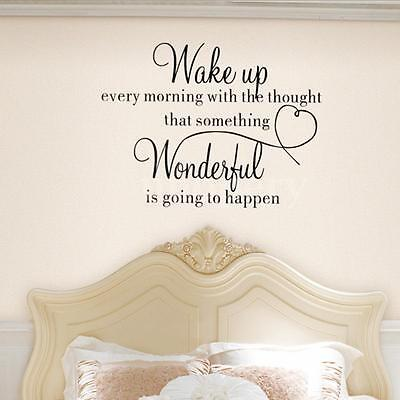 Heart Family Wonderful Bedroom Quote Wall Stickers Art Home Removable Decals DIY