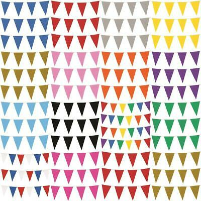 10m COLOUR BUNTING FLAGS PENNANTS PARTY DECORATION EVENT WEDDING 20 FLAG OUTDOOR