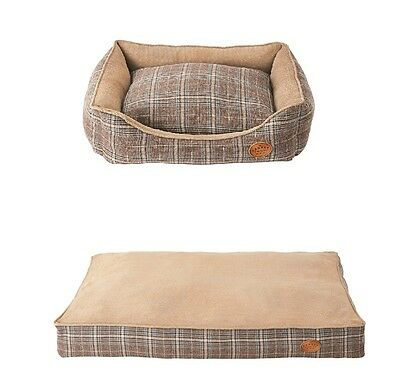 Ernest Charles Dog Bed Small Medium Large Soft Beige Deep Filled Fully Washable